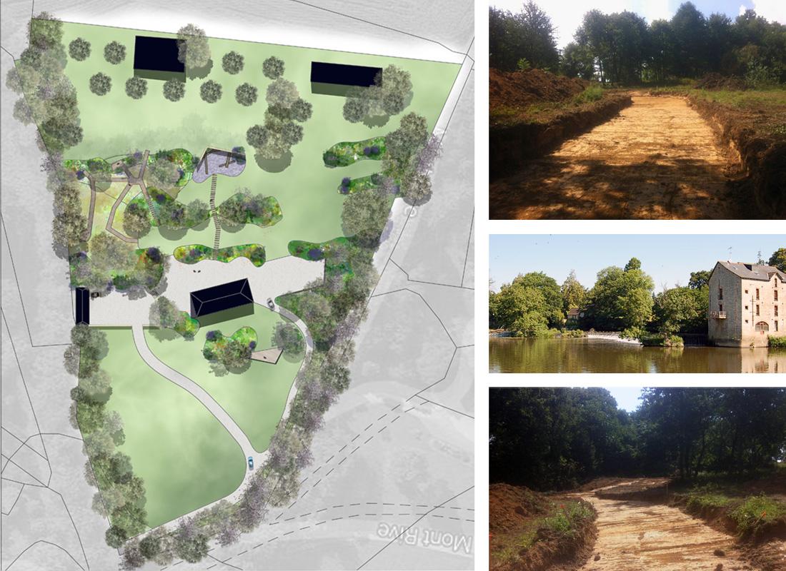 Conception d'un parc paysagé en Illle et Vilaine