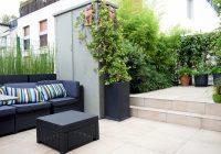 Salon d'extérieur, art océanique, jasmin, prêle, bambou, Atelier DLV, paysagiste, paysagiste concepteur, Paris, Neuilly sur Seine, terrasse sur toit
